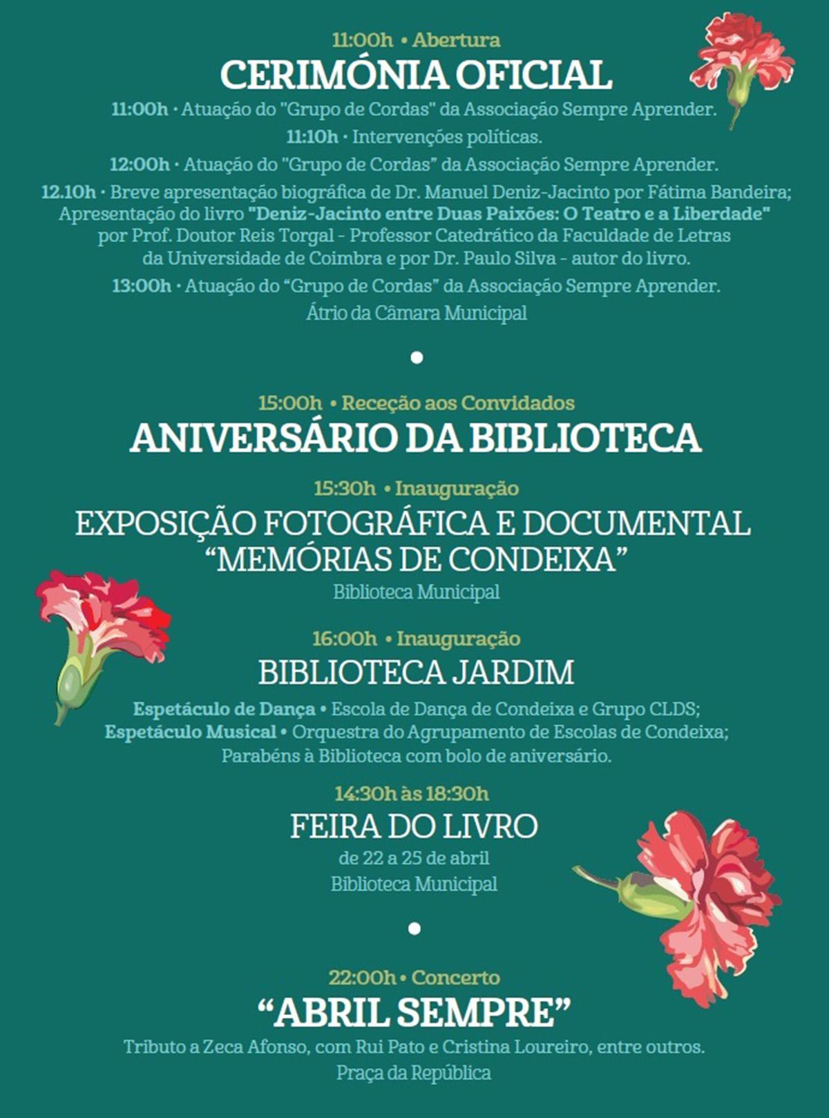 Comemorações do Aniversário da Biblioteca