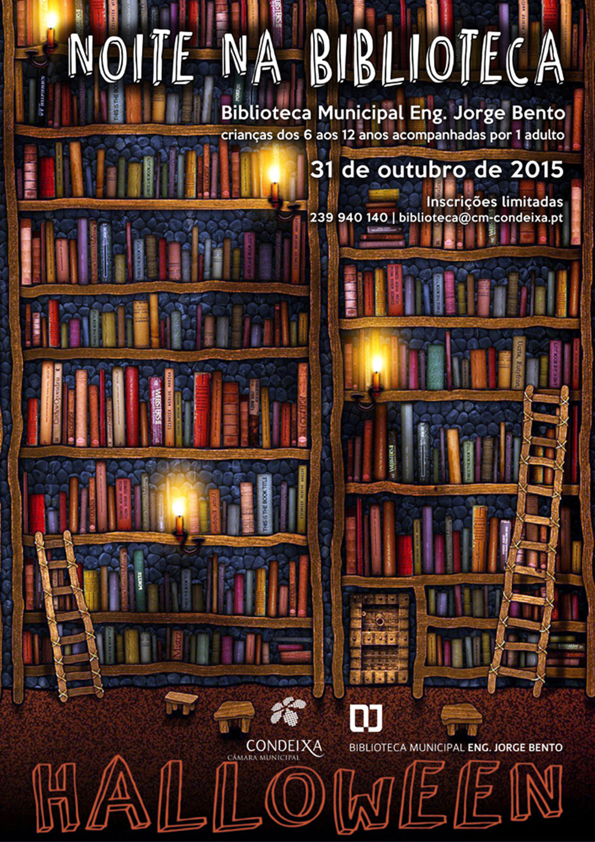 Noite na biblioteca